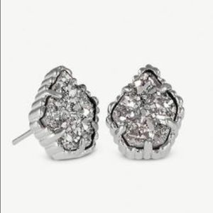 Kendra Scott platinum drusy silver Tessa earrings